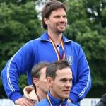 Kubb-Sportler Fortschritt99 Wikingerschach-Sport